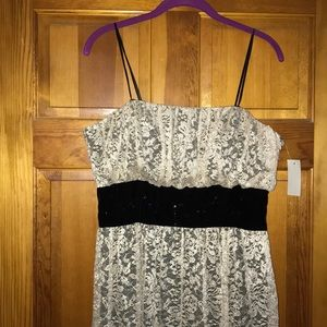 Strapless Lace Dress NWT